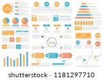 infographic elements   bar and... | Shutterstock .eps vector #1181297710