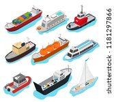 commercial sea ships signs 3d... | Shutterstock .eps vector #1181297866