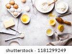 baking background. food... | Shutterstock . vector #1181299249