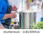 chefs at work in a restaurant...   Shutterstock . vector #1181300416