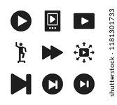 forward icon. 9 forward vector... | Shutterstock .eps vector #1181301733