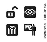 scan icon. 4 scan vector icons...   Shutterstock .eps vector #1181304556
