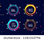 set of   opyright  investment... | Shutterstock .eps vector #1181310796