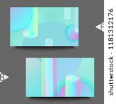 holographic abstract background....   Shutterstock . vector #1181312176