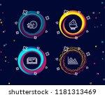 set of dishwasher timer ... | Shutterstock .eps vector #1181313469