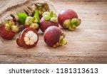 mangosteen of the queen of... | Shutterstock . vector #1181313613