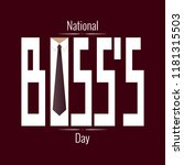 national boss s day. concept of ... | Shutterstock .eps vector #1181315503