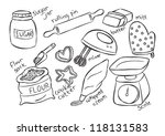 baking stuff | Shutterstock .eps vector #118131583