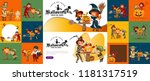 halloween family set vector... | Shutterstock .eps vector #1181317519