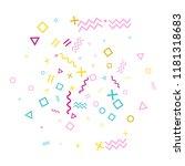 memphis style geometric... | Shutterstock .eps vector #1181318683