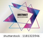 abstract geometric background... | Shutterstock .eps vector #1181323546