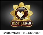 gold shiny emblem with love... | Shutterstock .eps vector #1181323900