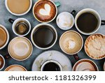 different types of coffee | Shutterstock . vector #1181326399
