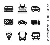 highway icon. 9 highway vector... | Shutterstock .eps vector #1181328166