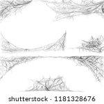 spider web set on white... | Shutterstock .eps vector #1181328676
