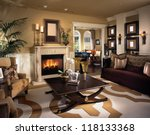 beautiful living room... | Shutterstock . vector #118133368