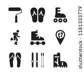 footwear icon. 9 footwear... | Shutterstock .eps vector #1181333779