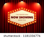 cinema theater retro sign on... | Shutterstock .eps vector #1181336776