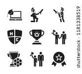 honor icon. 9 honor vector... | Shutterstock .eps vector #1181338519