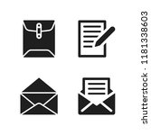 send icon. 4 send vector icons...   Shutterstock .eps vector #1181338603