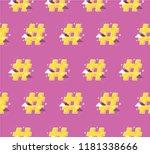 hashtag flat vector concept.... | Shutterstock .eps vector #1181338666