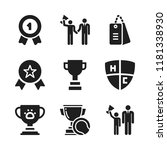 honor icon. 9 honor vector... | Shutterstock .eps vector #1181338930