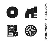 automotive icon. 4 automotive...   Shutterstock .eps vector #1181339926