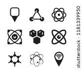 atom icon. 9 atom vector icons...   Shutterstock .eps vector #1181339950