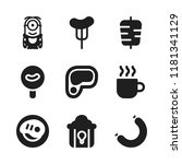 roasted icon. 9 roasted vector... | Shutterstock .eps vector #1181341129