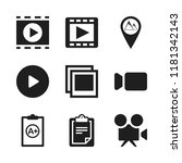 clip icon. 9 clip vector icons... | Shutterstock .eps vector #1181342143