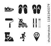 footwear icon. 9 footwear... | Shutterstock .eps vector #1181343379