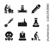 chemical icon. 9 chemical... | Shutterstock .eps vector #1181343880