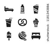 soft icon. 9 soft vector icons...   Shutterstock .eps vector #1181343886