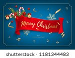 holiday's background for merry...   Shutterstock .eps vector #1181344483