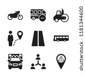 highway icon. 9 highway vector... | Shutterstock .eps vector #1181344600