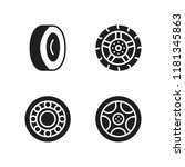 rim icon. 4 rim vector icons...   Shutterstock .eps vector #1181345863