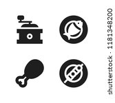 roasted icon. 4 roasted vector... | Shutterstock .eps vector #1181348200