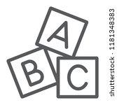 alphabet cubes line icon  abc... | Shutterstock .eps vector #1181348383