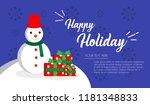 christmas card for december... | Shutterstock .eps vector #1181348833
