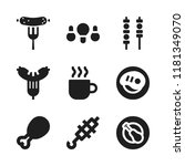 roasted icon. 9 roasted vector... | Shutterstock .eps vector #1181349070