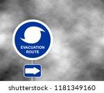 Warning Evacuation Route Road....