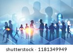 business people silhouettes... | Shutterstock . vector #1181349949