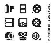 strip icon. 9 strip vector...   Shutterstock .eps vector #1181351059