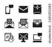 send icon. 9 send vector icons...   Shutterstock .eps vector #1181351083