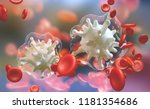 bacterial infection in the... | Shutterstock . vector #1181354686