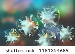 microbial colony. virus in... | Shutterstock . vector #1181354689