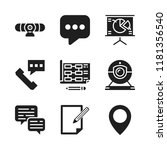 discussion icon. 9 discussion... | Shutterstock .eps vector #1181356540