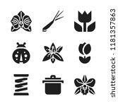 flora icon. 9 flora vector...   Shutterstock .eps vector #1181357863