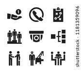 discussion icon. 9 discussion... | Shutterstock .eps vector #1181359096