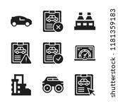 automotive icon. 9 automotive...   Shutterstock .eps vector #1181359183